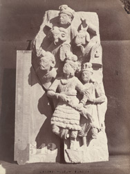 Sculpture slab representing Mara's Army, from the Peshawar District 10031181